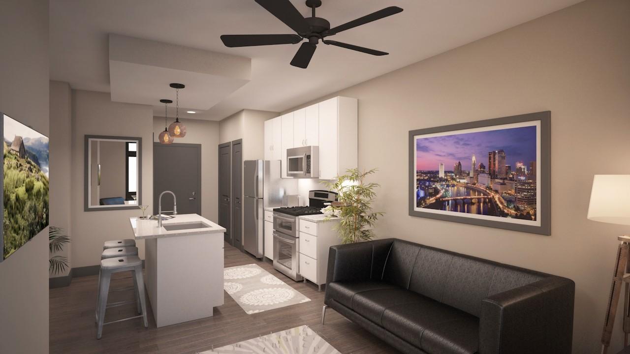sleek new short north studio in columbus, ohio - apartminty