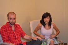 Fernando Franco y Marian Álvarez atendiendo a Apetece Cine.