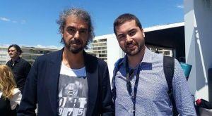 El director Fernando León de Aranoa, junto a Dani Arrébola de Apetece Cine.