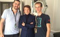 Raphael junto a Dani Arrébola y David Pujol de Apetece Cine.