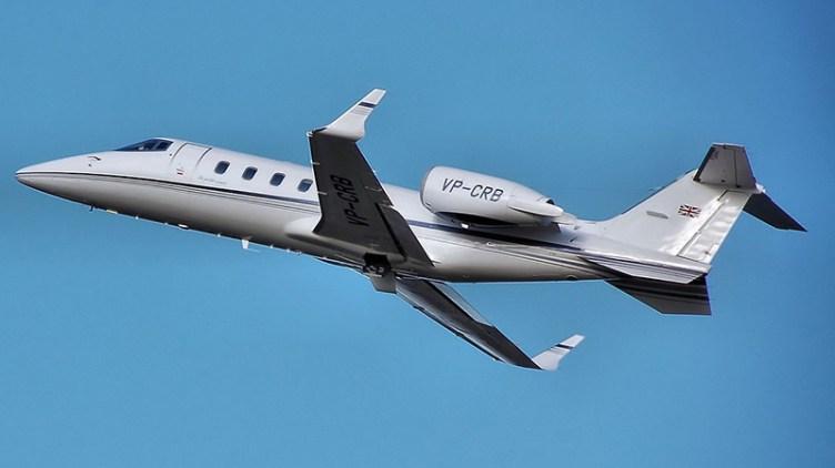 """Join the jet pet: <a href=""""http://en.wikipedia.org/wiki/Learjet_60#mediaviewer/File:Bombardier.learjet60.vp-crb.arp.jpg"""" subject=""""Learjet"""">image credit</a>"""