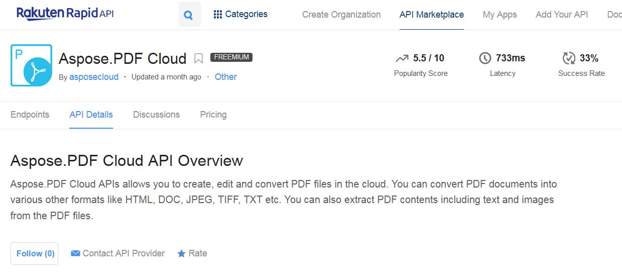 Aspose.PDF Cloud API Overview