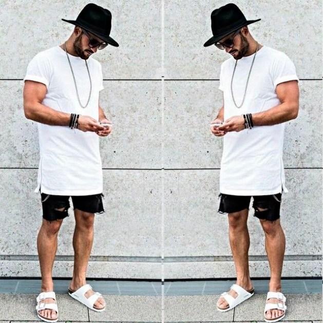 camiseta-branca-masculina-reveillon-2018-bermuda-preta-e-chapeu