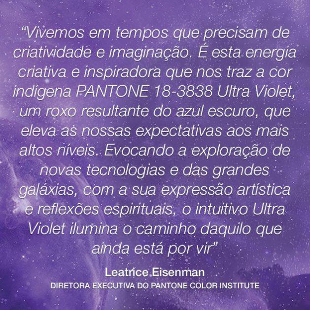 mensagem cor ultra violet Leatrice Eisenman