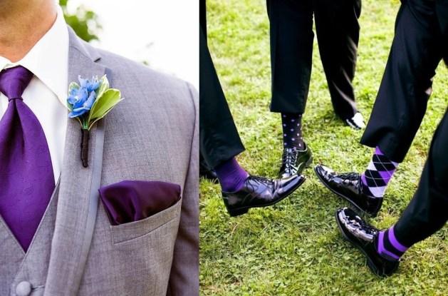 gravata e meia cor ultra violet