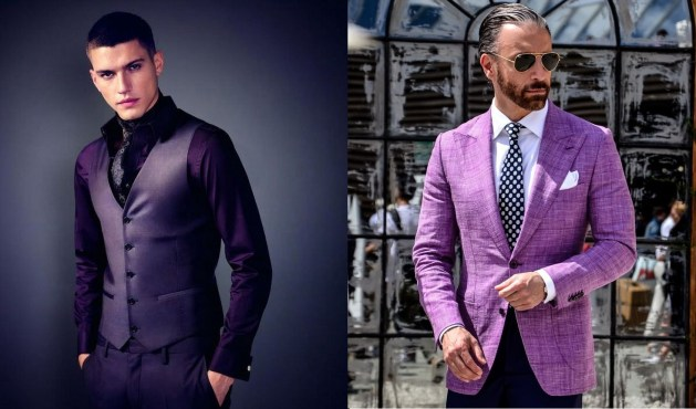 blazer e colete masculino cor ultra violet