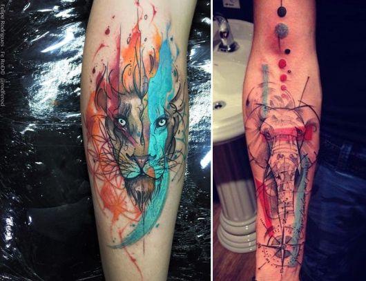 modelos de tatuagem aquarela