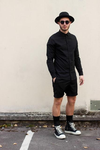 roupa masculina preta monocromatica