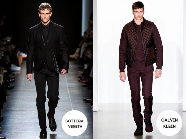 roupa masculina monocromatica veneta e ck