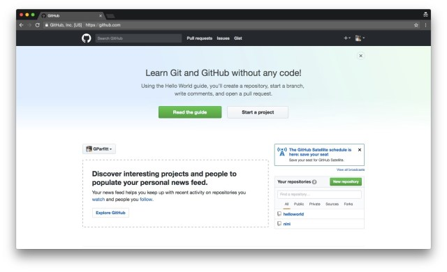 GitHub's dashboard is team-centric