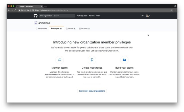 GitHub helps users invite their team members