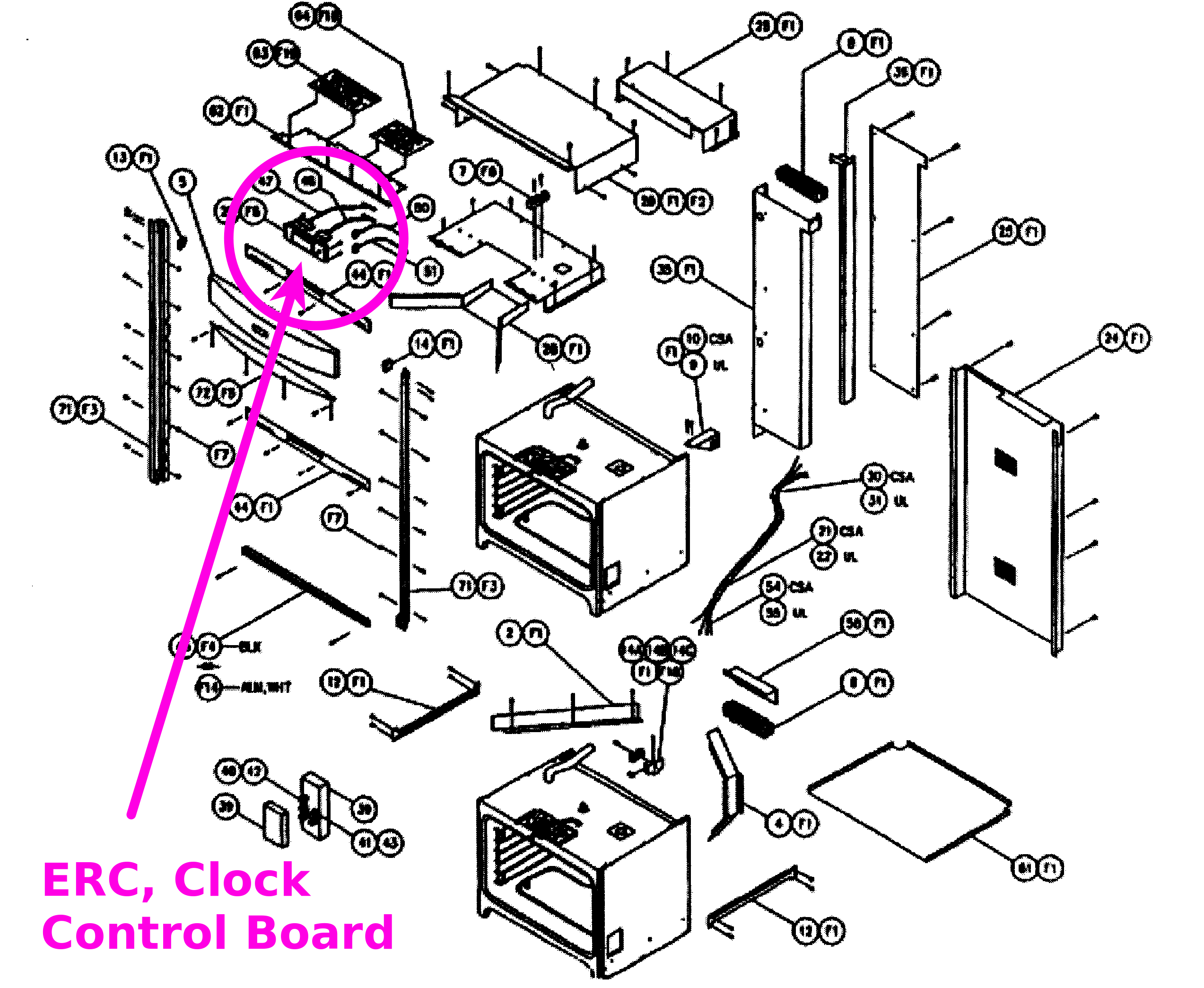Dacor Cooktop Parts Diagrams