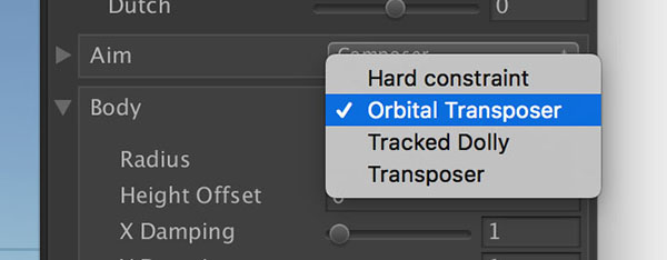 ody設定 Orbital Transposer, Tracked Dolly, Transposer