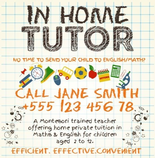 Home tutor flyer