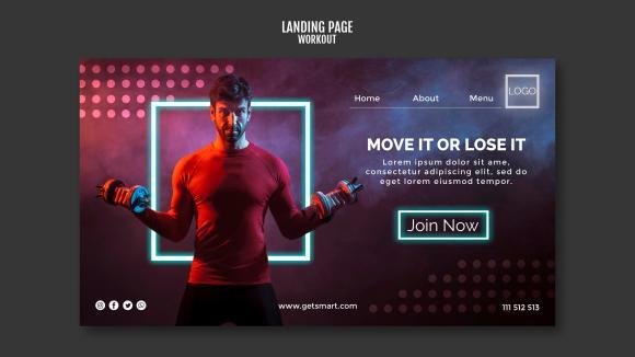 Gym website template