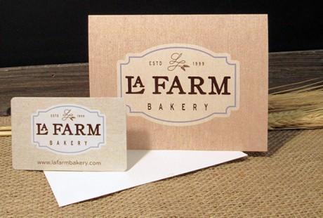 La farm bakery's gift card