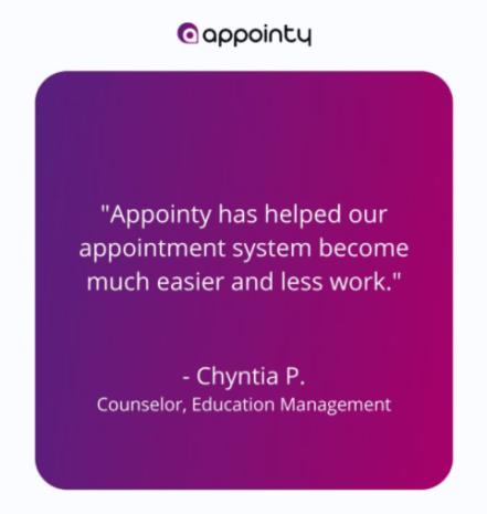 Appointy Testimony