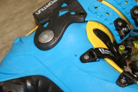 Chaussure de Ski avant utilisation de l'Ultracam