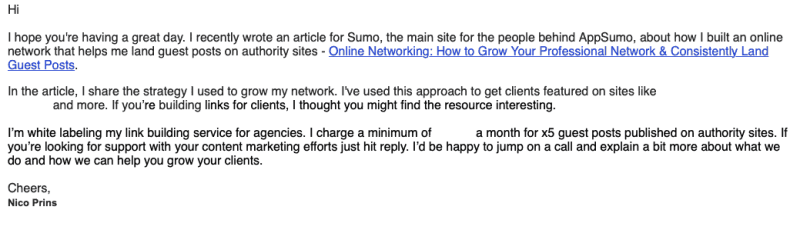 Cold email outreach campaigns