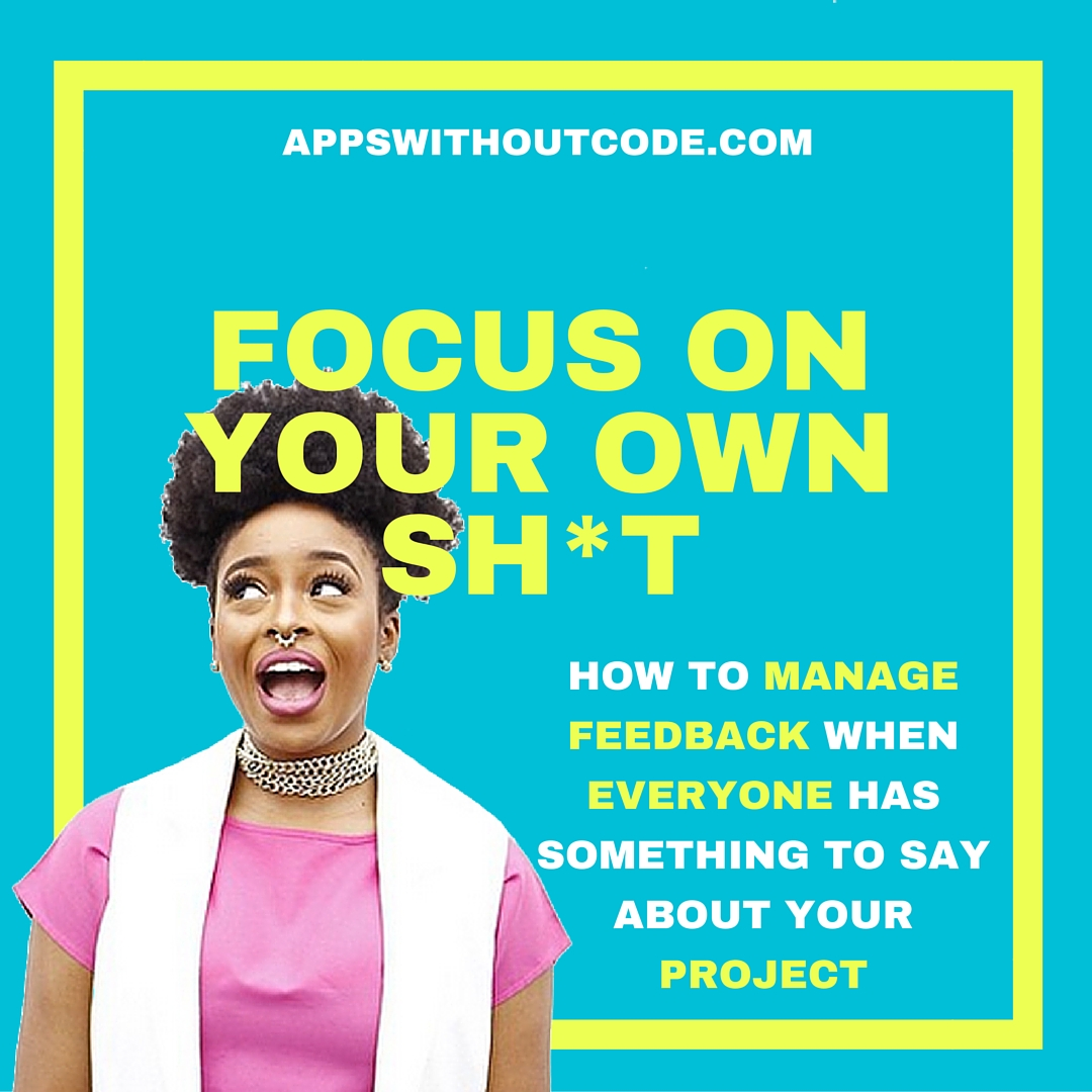 FOCUS ON YOUR OWN SH-T