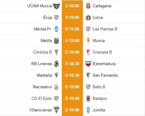 Equipos Murcianos, repaso a la clasificación y nueva jornada