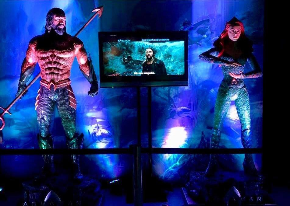 Aquaman e Mera no AquaRio