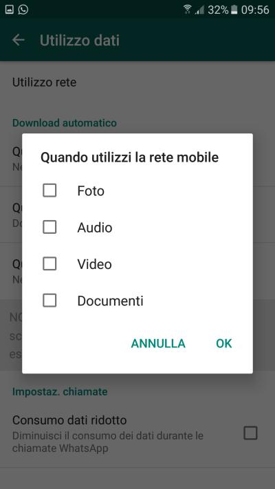 whatsapp - impedisci salvataggio automatico foto