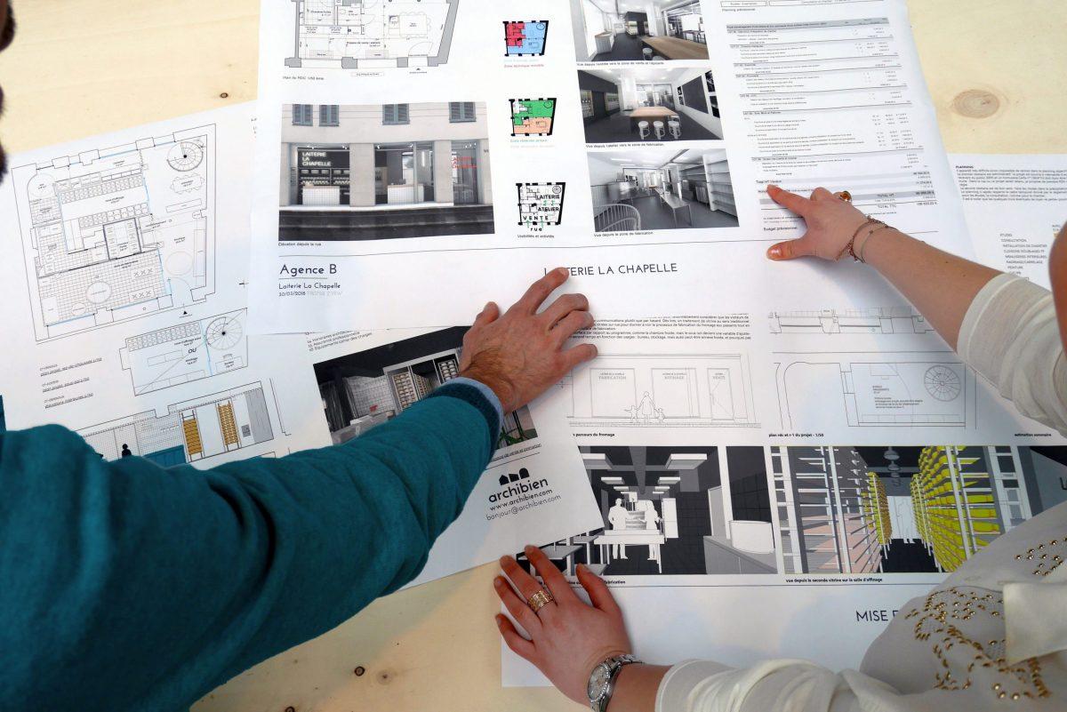 Trois planches d'architecte pour un projet unique