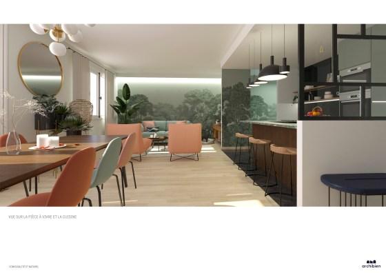 Planche de proposition d'une agence d'architecture pour un projet de rénovation.