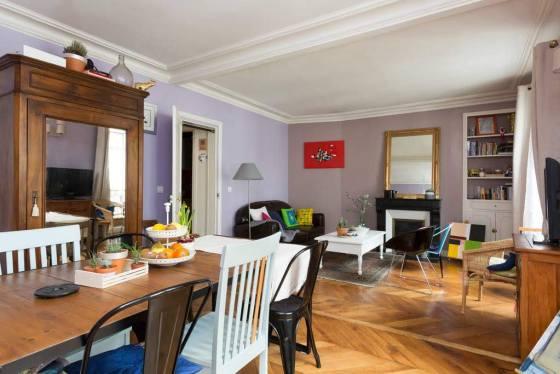 Le salon de l'appartement avant les rénovations