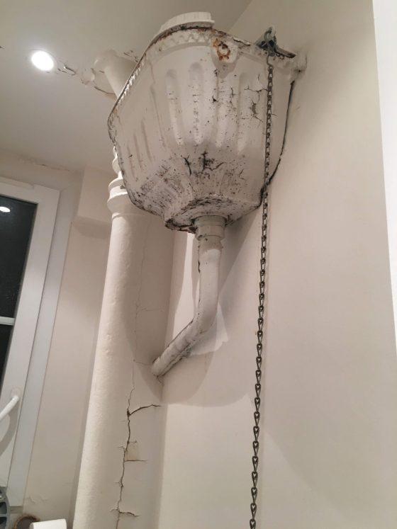WC en mauvais état