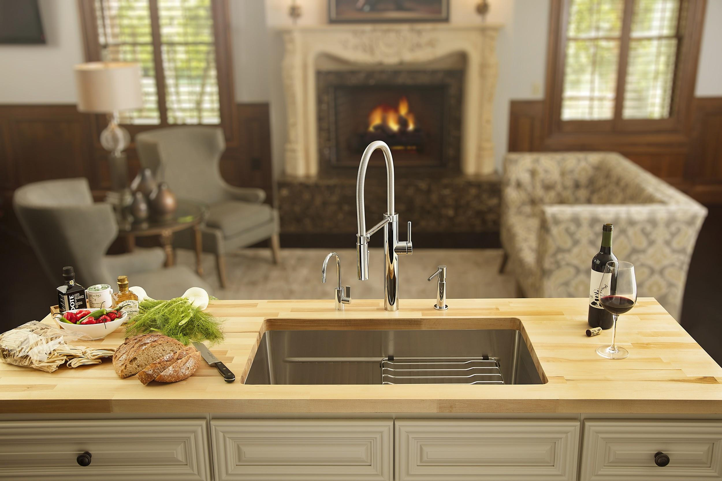 semi professional faucet and sink fits
