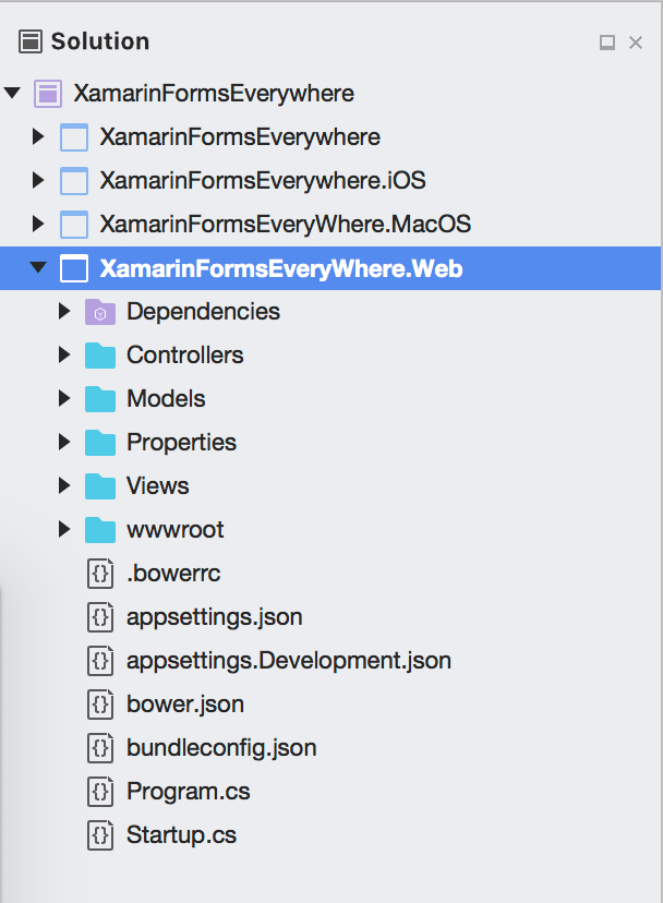 Xamarin Forms Web Project
