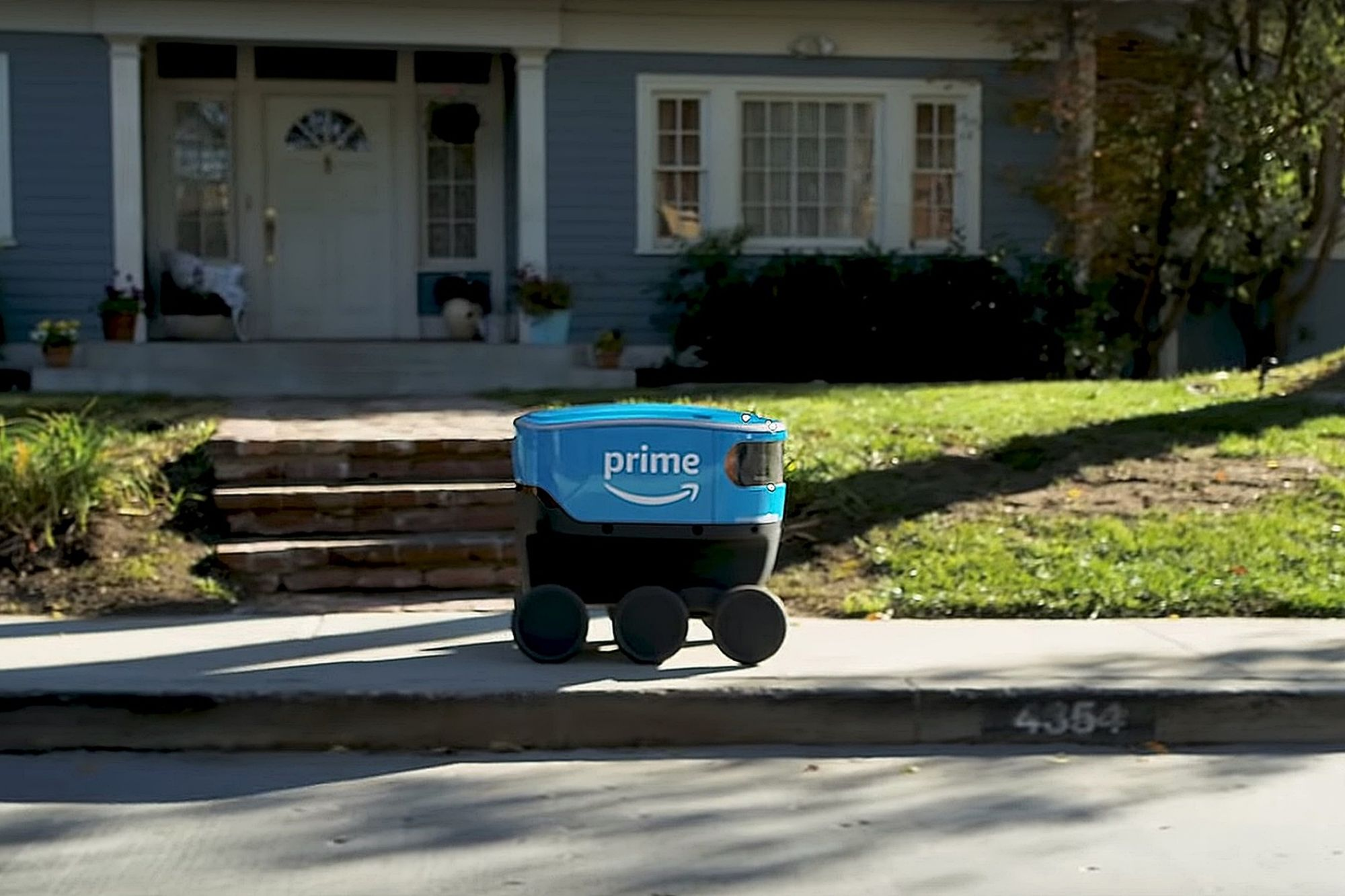 Amazon Stock Rises as the 'Scout' Delivery Robot Is Unveiled