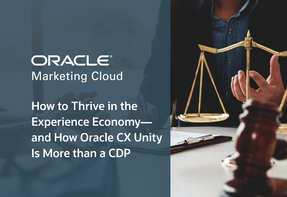Oracle CX Unity CDP & Experience Economy