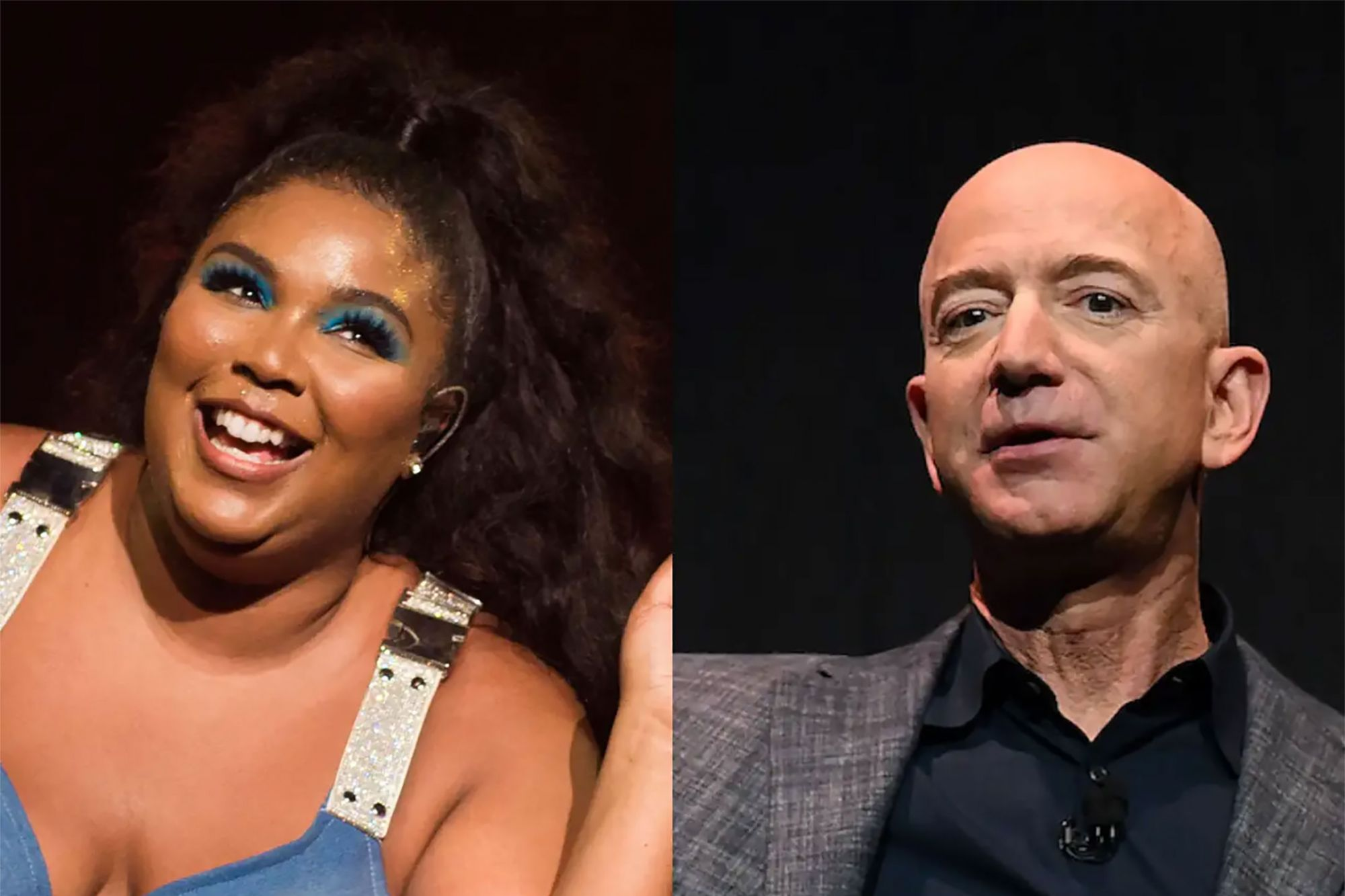 Jeff Bezos and Lizzo Hung Out During the Super Bowl