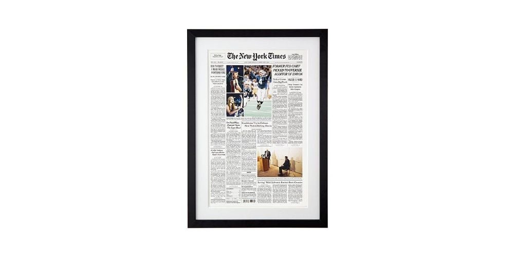 New York Times Custom Front Page Reprint Reprint - 60 $