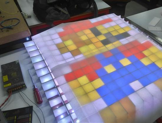 interactive coffee table planetarduino