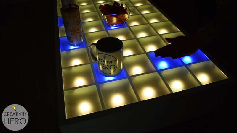 make an interactive coffee table with