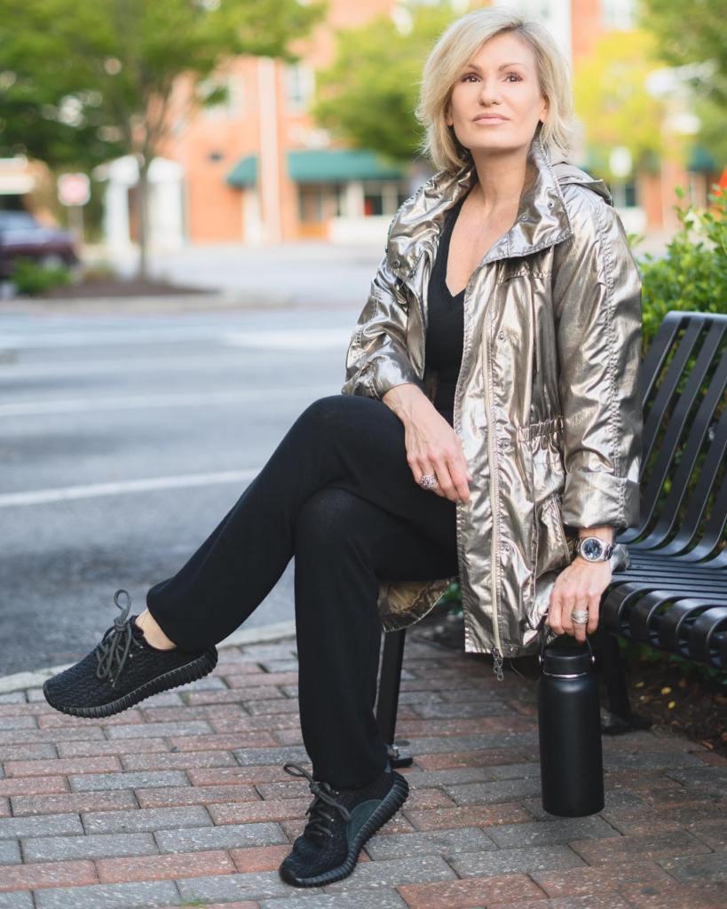 Shannon Mann wears Armoire