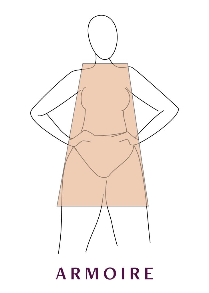 how to dress a triangle shape