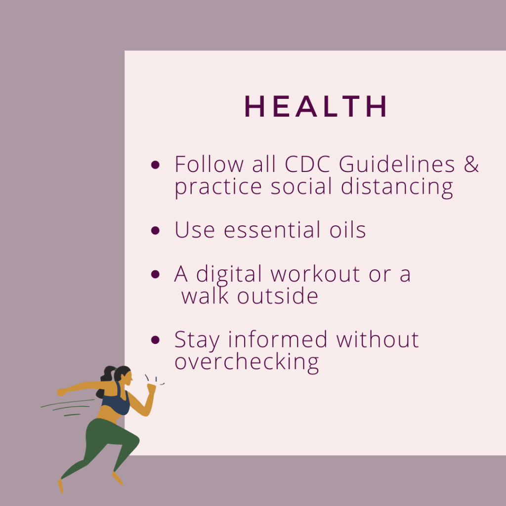 health self care checklist during coronavirus
