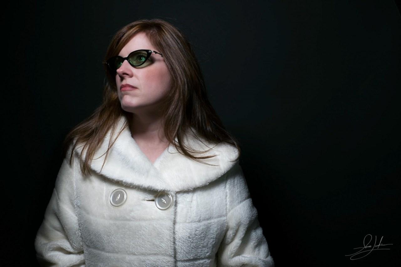 Marita Vintage Coat with Glasses