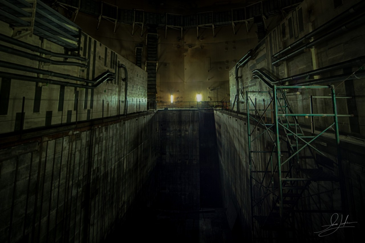 Looking Down Nuclear Power Plant