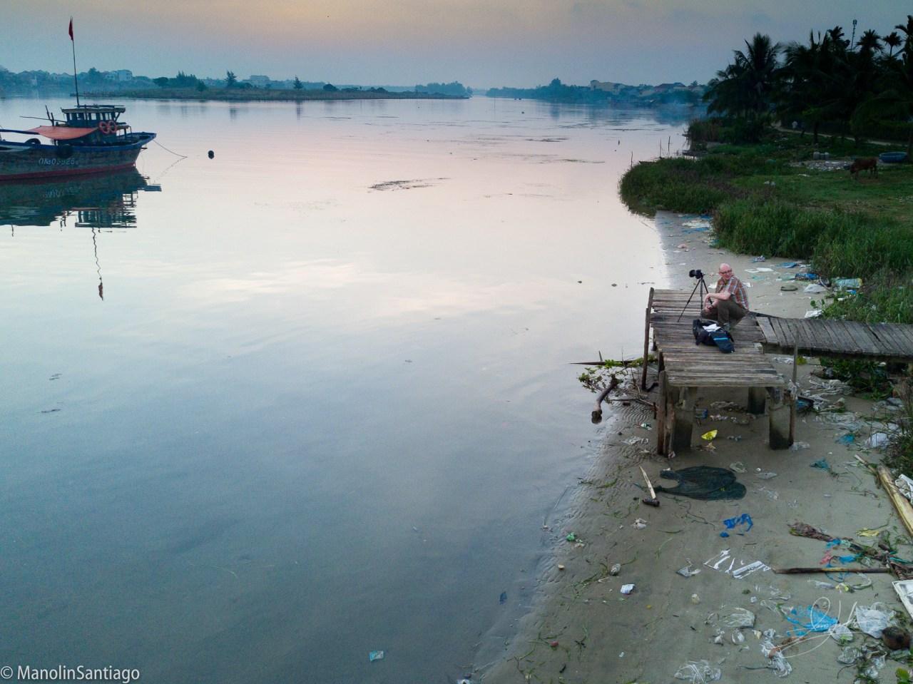 Thu Bồn River in Hội An, Vietnam