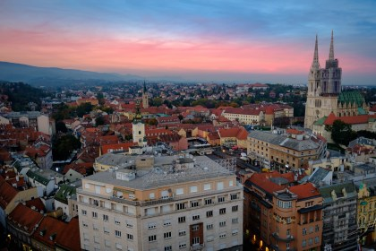 Sunset In Zagreb, Croatia