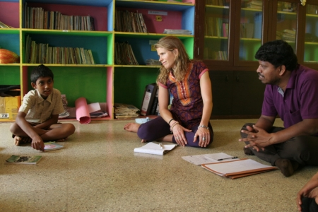 how a yoga teacher and therapist is giving back