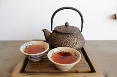 Tea for 2 out of a vintage cast iron pot