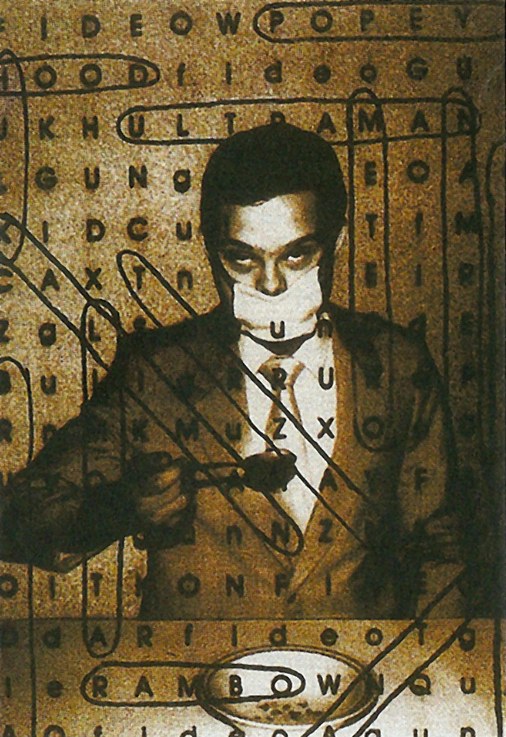 Alexander Apóstol. Soupe de lettres, 1997. Photographie sur toile, 120 x 160 cm.