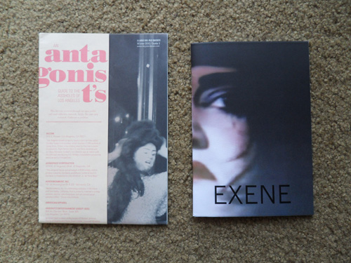 "Llano Del Rio's ""Antagonist's Guide to the Assholes of Los Angeles,"" left, and Miniature Garden's ""Exene"""